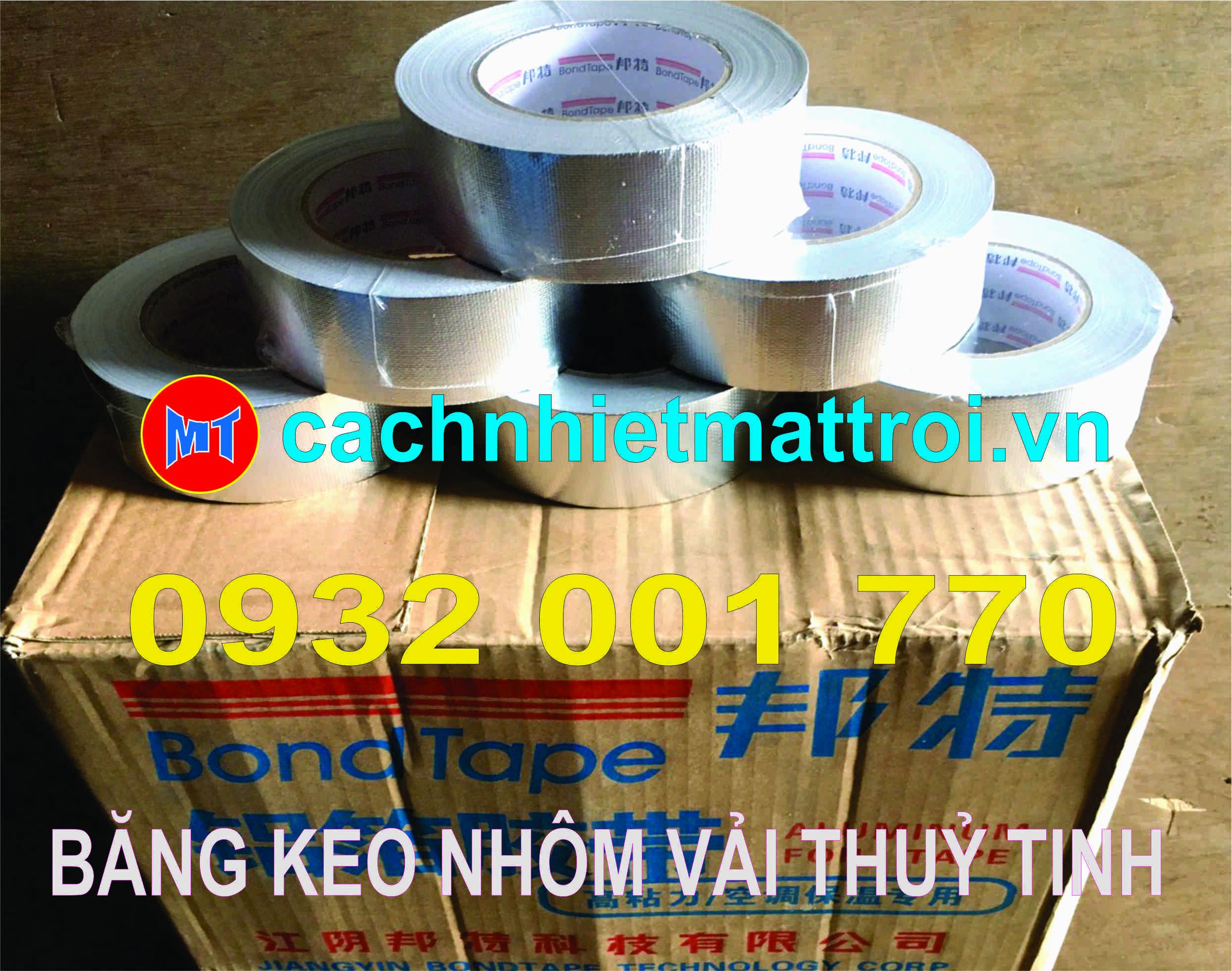 hình 3 BĂNG KEO NHÔM CÓ GÂN - BĂNG KEO BẠC VẢI THUỶ TINH -  BONDTAPE.