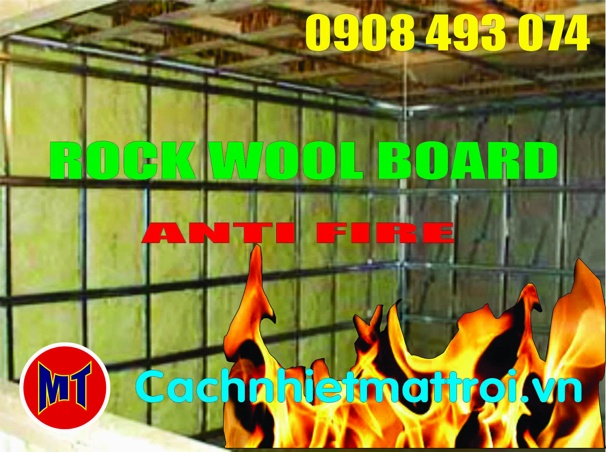 hình 3 Bông chống cháy, cách nhiệt, cách âm