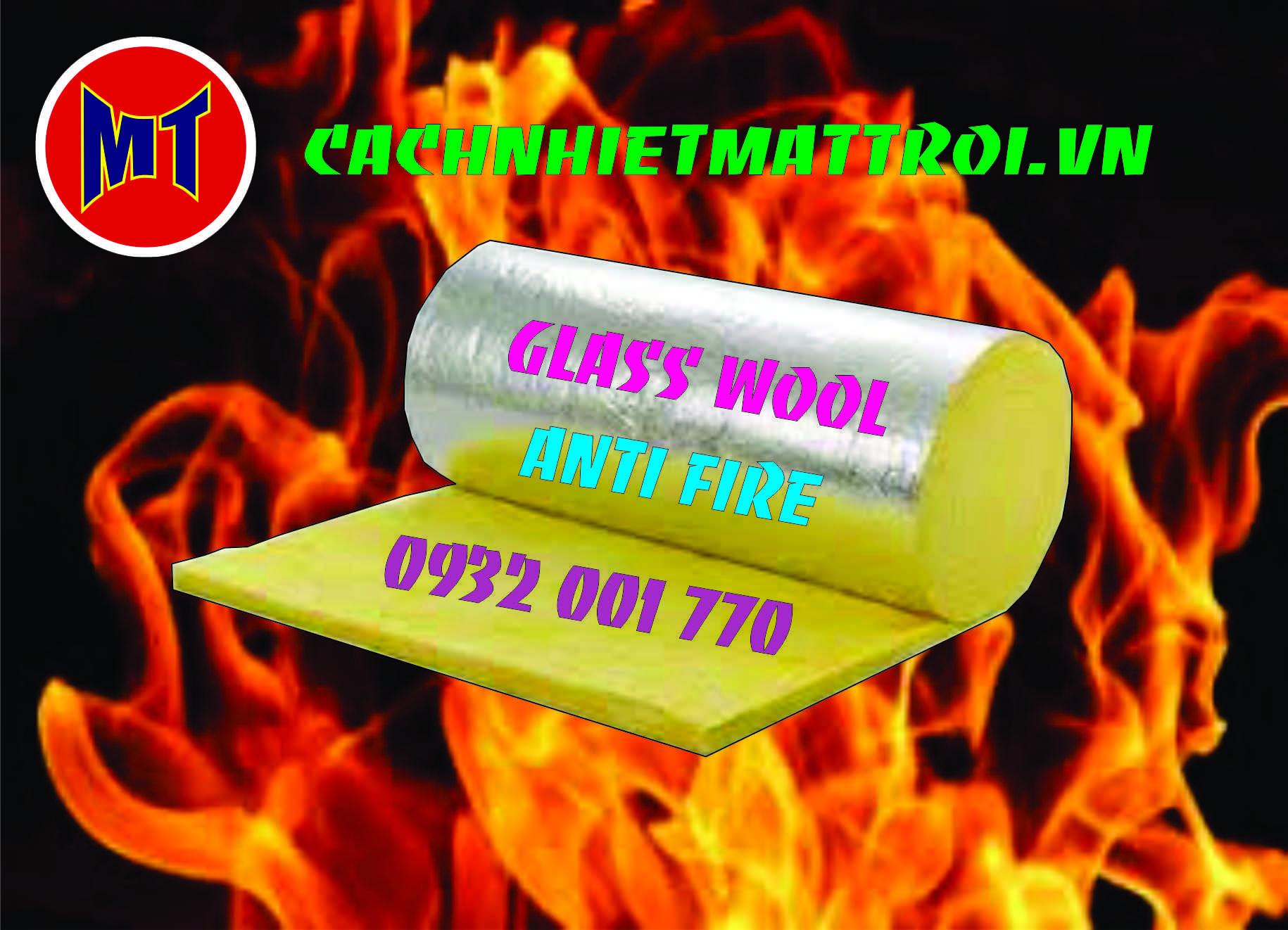 hình ảnh sản phẩm Bông thủy tinh bảo ôn, cách nhiệt, chống cháy.