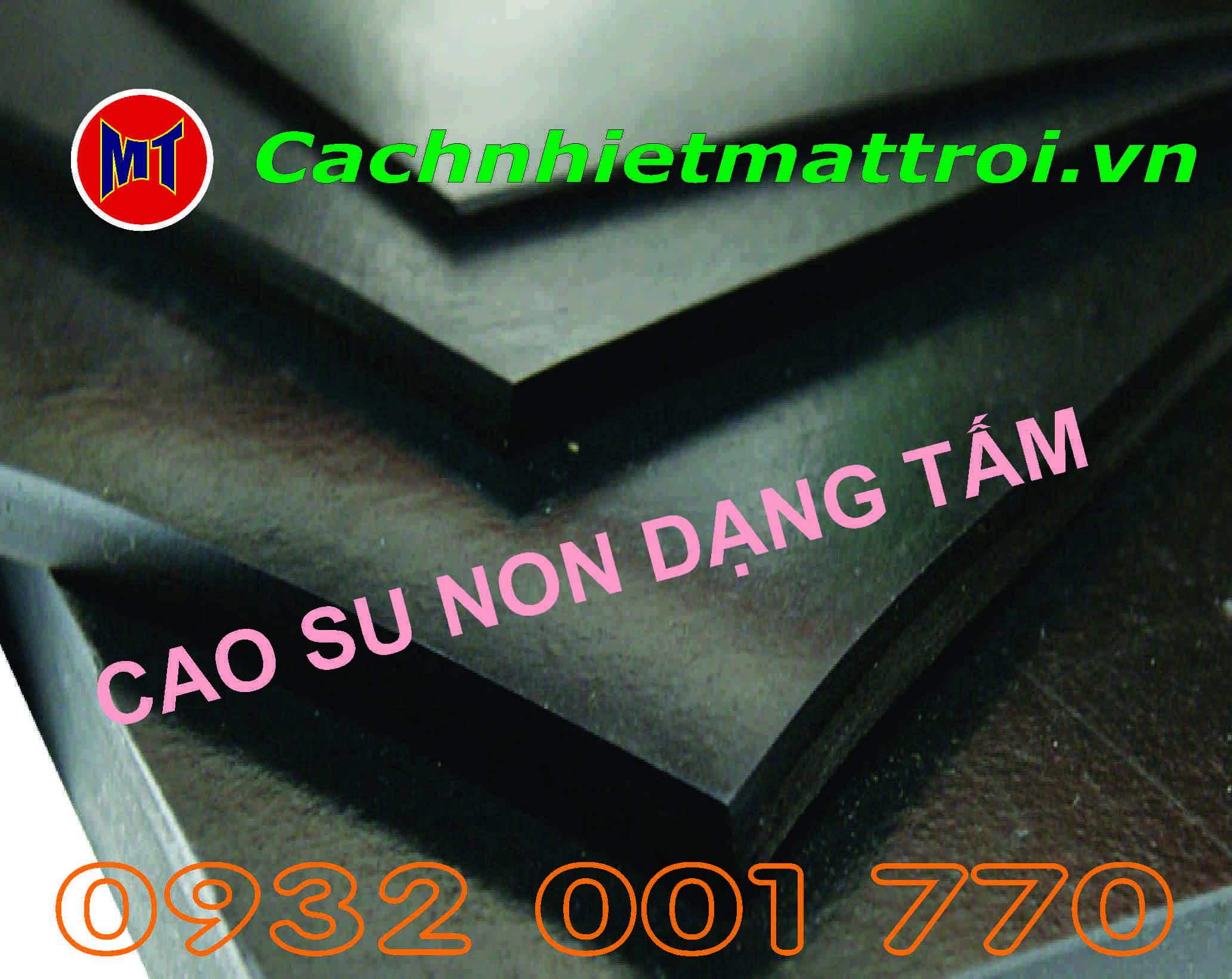 hình 1 Cao su non cách âm chống rung dạng tấm dày 10mm  - Rubber Sheet_ D10
