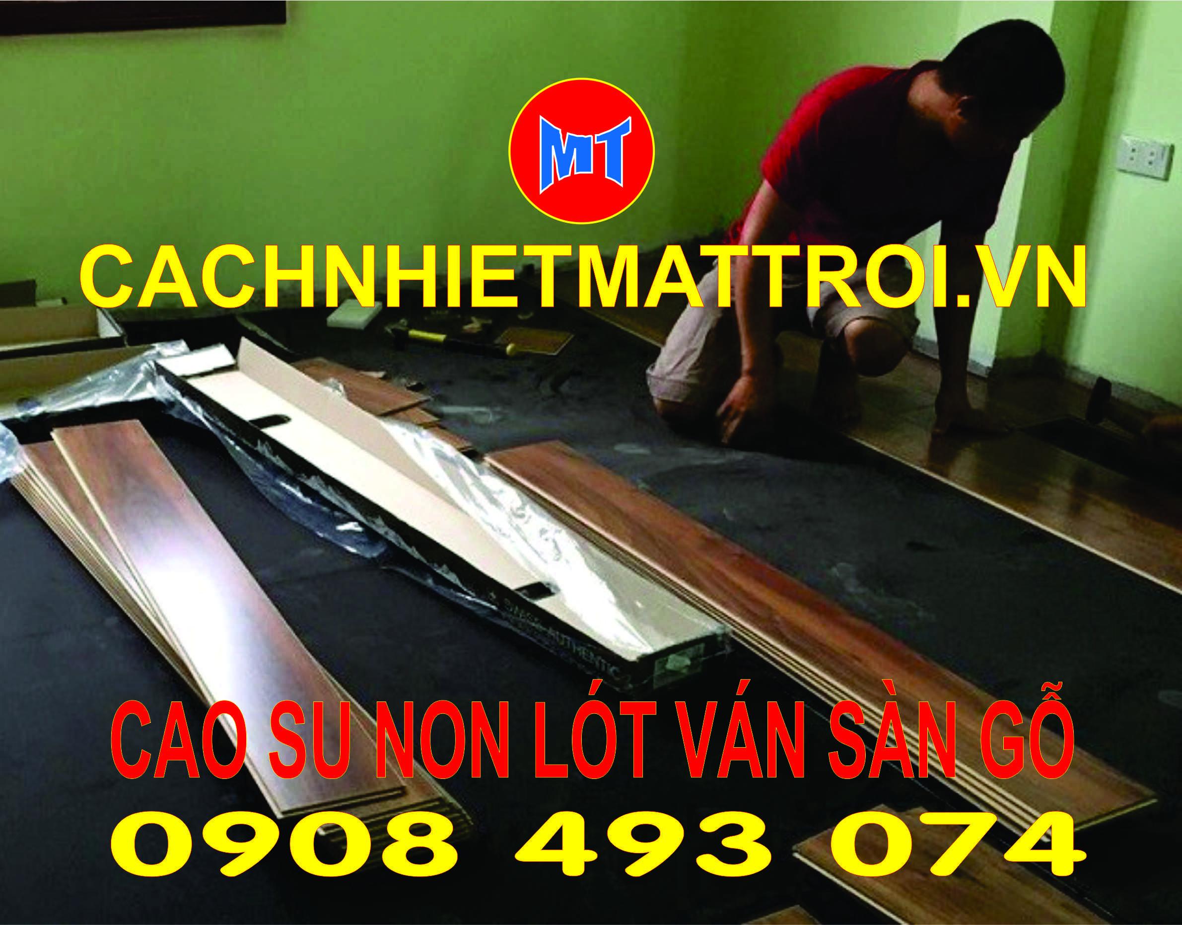 hình ảnh sản phẩm Cao su non lót ván sàn gỗ chống rung cách âm