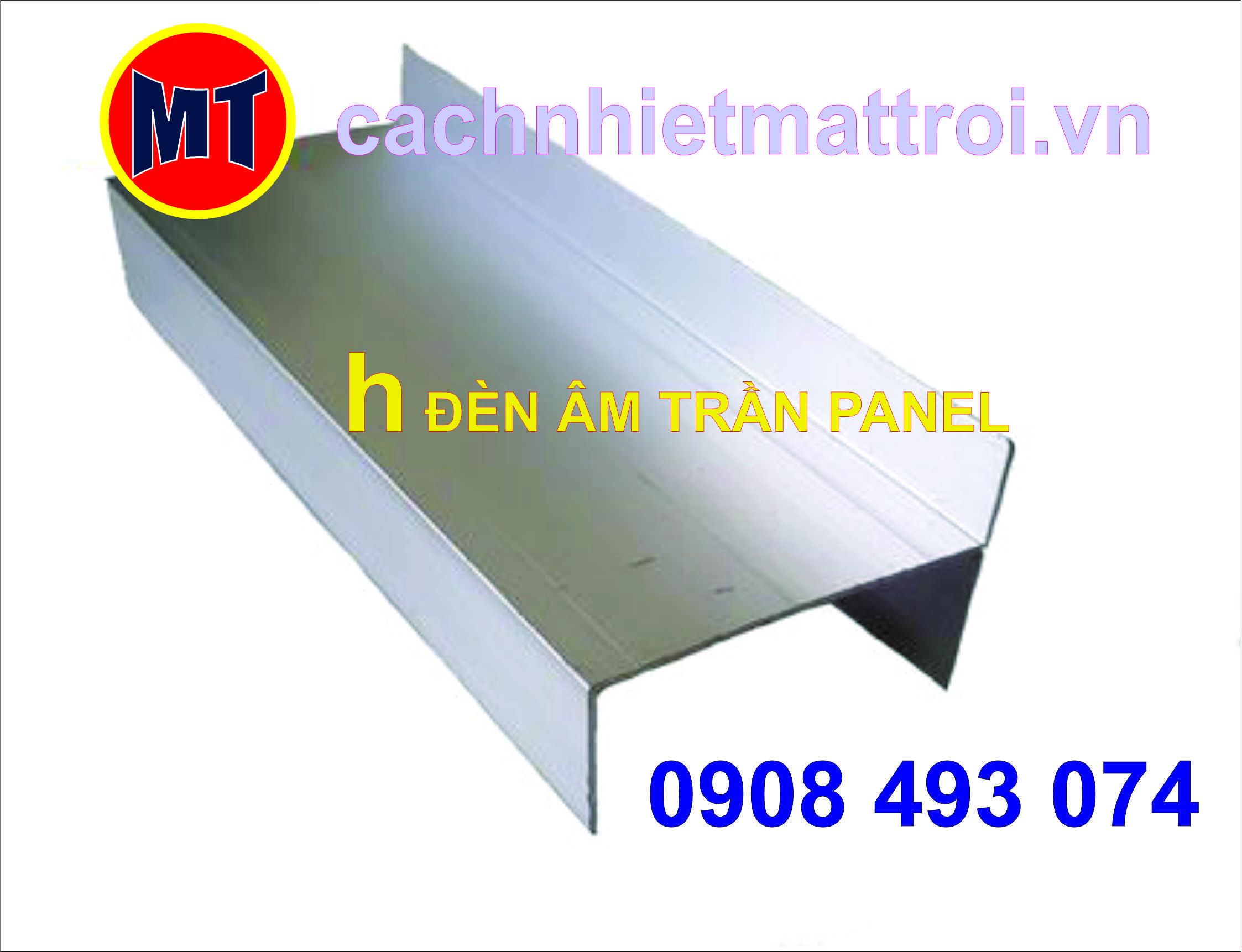 hình 3 h nhôm lắp đèn âm trần - Phụ kiện cho panel phòng sạch