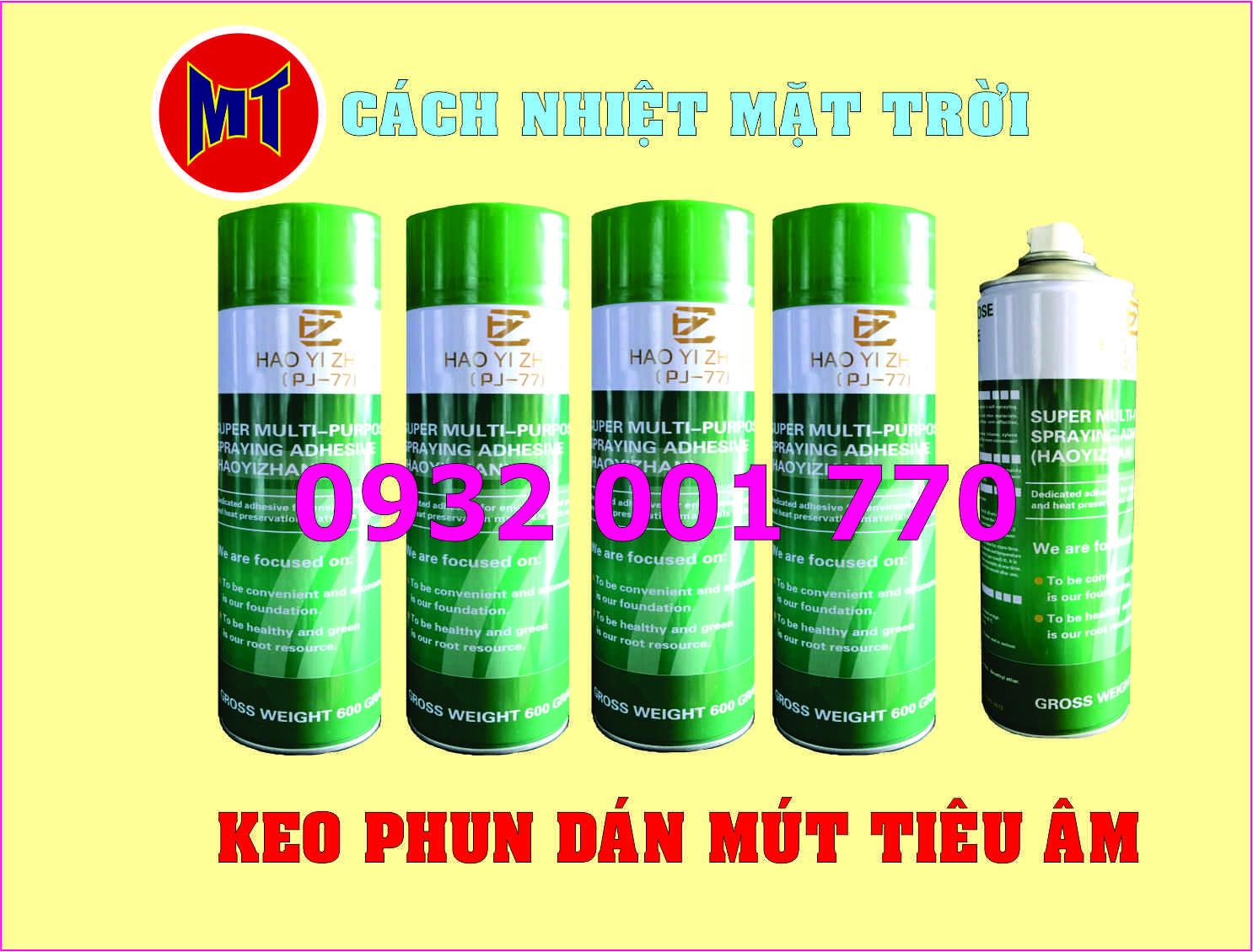 hình ảnh sản phẩm Keo phun dán mút tiêu âm - Keo dán đa năng
