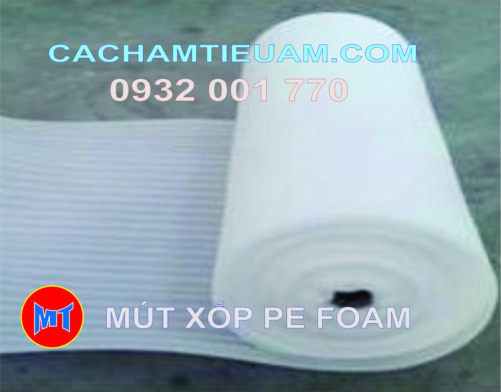 hình ảnh sản phẩm Màng PE foam trắng dày 0.5mm - 0.5T dùng bọc lót , gói hàng