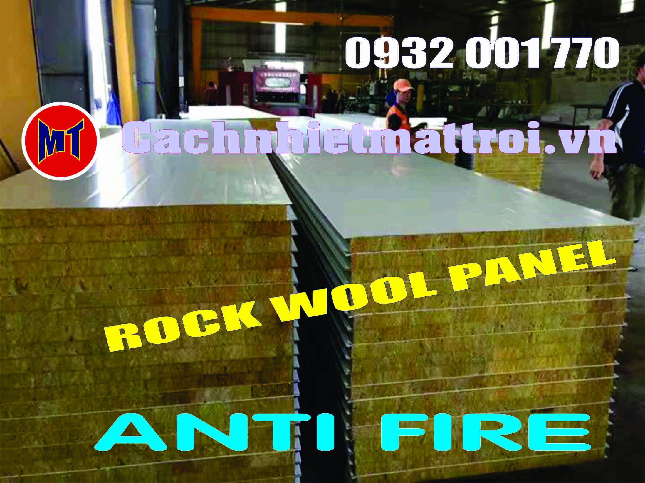 hình ảnh sản phẩm PANEL ROCK WOOL CHỐNG CHÁY