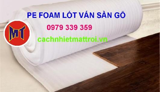 hình ảnh sản phẩm PE foam lót ván sàn gỗ - Mút xốp trắng