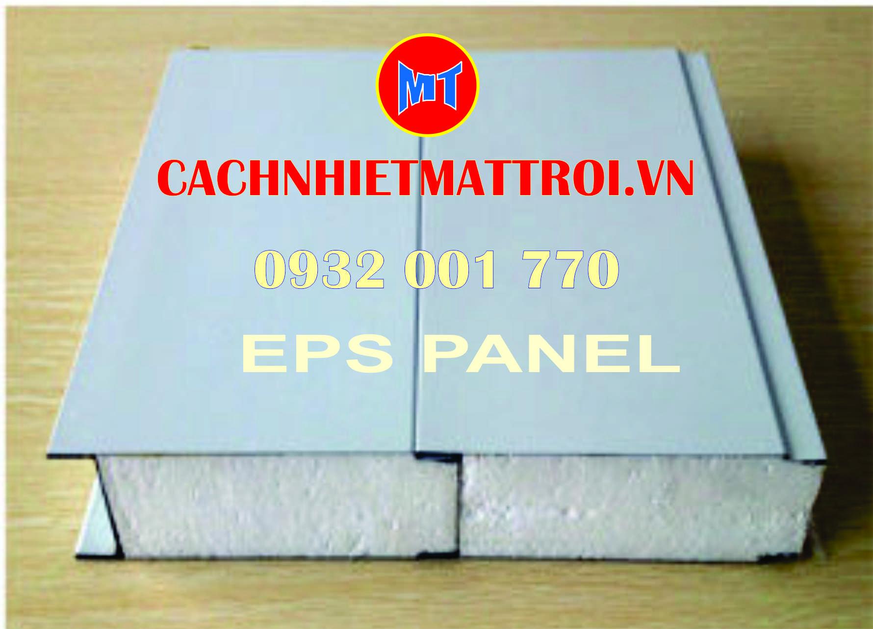 hình ảnh sản phẩm Tấm cách nhiệt Panel EPS 2 mặt tôn mạ màu.